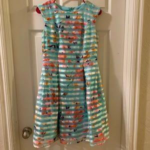 Sandra Darren Mint Green Floral Dress Size 4